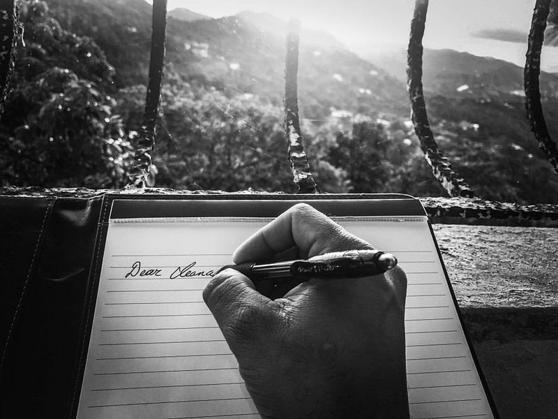 Handschriftlicher Brief, Bleiben Sie in Kontakt